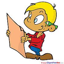 Plan List boy Clipart School free Images