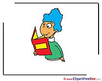 Reading Girl School download Illustration