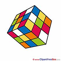 Rubik's Cube printable Illustrations School
