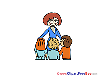 Teacher Children free Illustration School