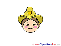 Cowgirl Pics Emotions free Cliparts