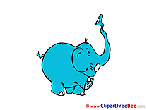 Elephant Pics Emotions free Cliparts