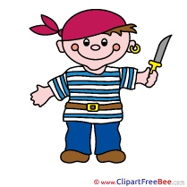 Knife Boy Pirate Fairy Tale Clip Art for free