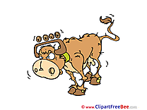 Angry Cow printable Illustrations for free
