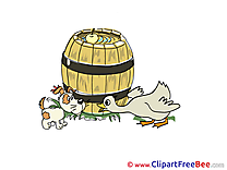 Barrel Duck Dog Clipart free Illustrations