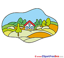 Farm House printable Images for download