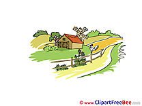 Farm Summer Cliparts printable for free