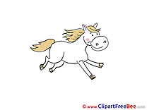 Horse printable Illustrations for free