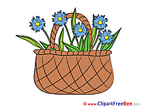 Basket with Flowers Flowers download Illustration