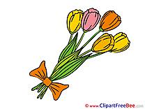 Bouquet Clipart Flowers Illustrations