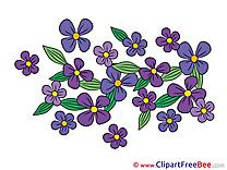 Bush Flowers Clip Art for free