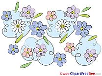 Flowering Flowers Clip Art for free
