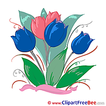 Tulips Flowers Clip Art for free