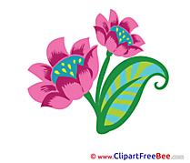 Violet printable Flowers Images