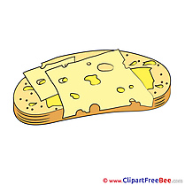 Sandwich with Cheese Clip Art download for free