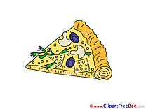 Slice of Pizza Cliparts printable for free