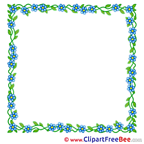 Beautiful Flowers free Cliparts Frames