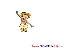 Girl jumps free Cliparts Vacation