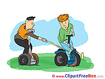 Segway Clipart Vacation Illustrations