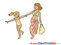 Shopping Pics Vacation Illustration