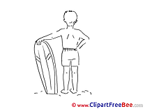 Surfer Vacation download Illustration