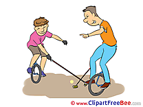 Unicycle Pics Vacation Illustration