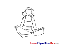 Yoga Vacation Clip Art for free