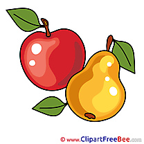 Leaves Apple Pear printable Images for download