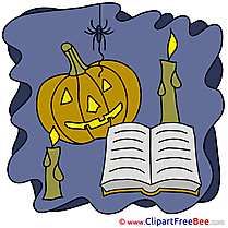 Book Candles Pumpkin download Clipart Halloween Cliparts