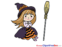 Broom Witch Halloween download Illustration