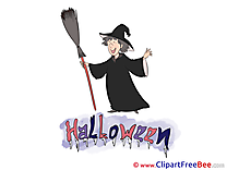 Broom Wizard Cliparts Halloween for free