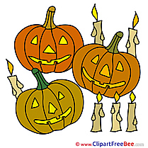 Candles Pumpkins printable Halloween Images