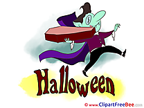 Dracula Coffin Clipart Halloween Illustrations
