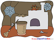 House Baba Yaga Web Mouse Clipart Halloween free Images