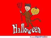Imp Pumpkin Clip Art download Halloween