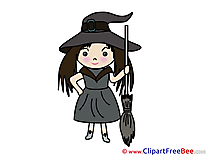 Little Witch printable Halloween Images