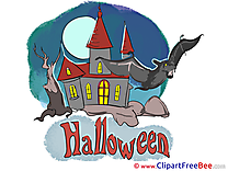 Mansion Bat Night download Clipart Halloween Cliparts