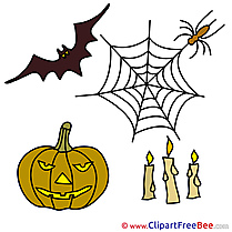 Picture Candles Pumpkin Bat Pics Halloween free Image
