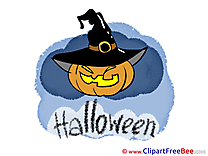 Pumpkin Hat Clipart Halloween Illustrations