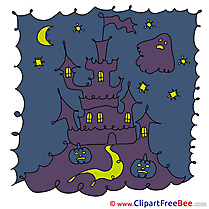 Sky Ghost Pupkins  Castle Clipart Halloween free Images