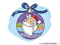 Ball Santa Claus Pics New Year Illustration