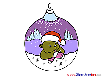 Bear Ball Pics New Year free Cliparts
