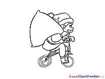 Bicycle Bag Clipart New Year free Images