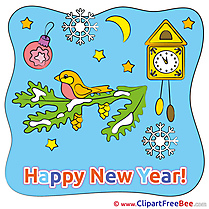 Birdhouse Night Cliparts New Year for free