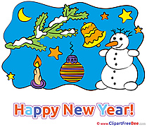 Branch Snowman Clipart New Year Illustrations