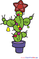 Cactus New Year Clip Art for free