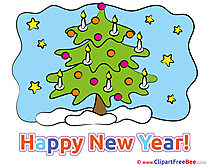 Candles Tree Pics New Year Illustration