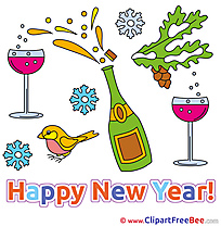 Champagne Clipart New Year Illustrations
