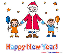 Children Santa Claus free Cliparts New Year