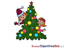 Children Tree Clip Art download New Year